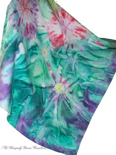 Hand dyed fabric Garden of Colors shibori style and by LindaHarvey,