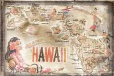 Aloha Hawaii print by Vintage Vacation - WorldGallery.co.uk