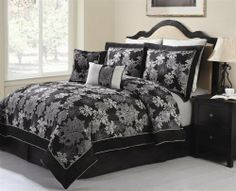 "Multiple Colors - 8pc Luxury Bedding Set - CARLY. Black - Comforter Set - King by BlowOut Bedding. Save 67 Off!. $82.79. 100% Polyester. 2 Pillow Shams 20 x 38"". Click here to see all of our bedding sets, curtains, and pillows.. 1 Breakfast Pillow. 2 Euro Shams 26 x 26"". Machine Washable. 1 Skirt 78"" x 80"" x 14"". King Size Includes:. 8 Piece Luxury Bedding Ensemble Available in Both King & Queen Sizes. 1 Comforter 101"" x 86"". 1 Square Pillow. 8 Piece Luxury Bedding Ensemble Avai..."