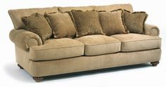Not a huge fan of this fabric color, but it certainly looks comfy. Flexsteel Furniture: PattersonFabric Sofa (7321-31)