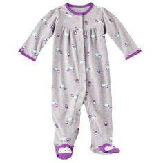 Just One You Made By Carter's Infant Girls Love Owls Sleep and Play Grey (Newborn) Carter's