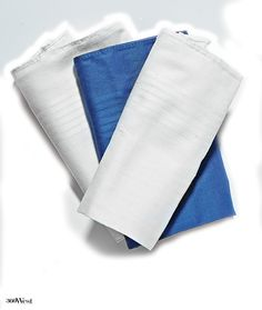 Cotton handkerchiefs are incredibly functional, so invest in several. Jos. A. Bank sells a baker's dozen for $21, 360 West Magazine, January 2015 #style #mensessentials #mensstyle #handkerchiefs #josabank