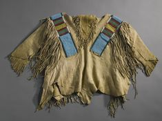 Crow Beaded and Fringed HIde Boy's Shirt | Lot | Sotheby's