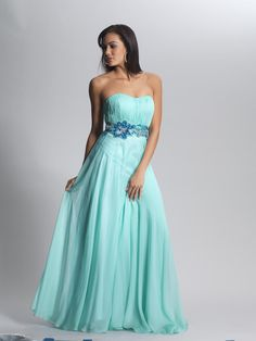 Draping Sweetheart Ruched Beading Blue Prom Dress