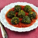 """Spinach """"Meatballs"""" In Spicy Tomato Sauce - ..."""