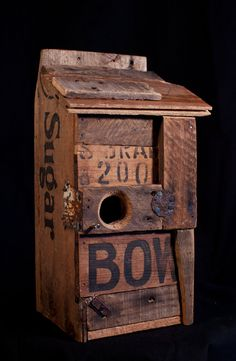 Handmade birdhouse crafted from recycled and by nathanfriedlipski, $105.00