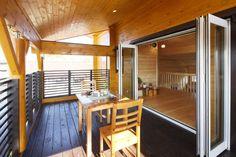 #インテリア #バルコニー #デザイン #木造 #ベランダ #ログハウス