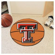 NCAA 27 in. Basketball Mat, Texas Tech Red Raiders