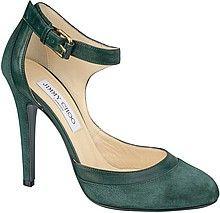 туфли, лодочки, женские, зеленые, замшевые, на высоком каблуке