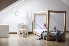 Łóżko drewniane Mila KM 60x120cm - Mila KM - Łóżka domki
