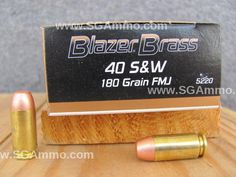 1000 round case - 40 cal CCI Blazer Brass case 180 grain FMJ Ammo 5220