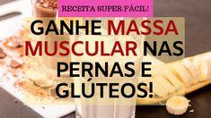 "Vitamina pontente para ganhar massa muscular. Com dificuldade para ganhar massa muscular, ou seja ""ganhar corpo""? Vem conferir essa receitinha potente! Personal Trainer, Health, Food, Healthy Eating Recipes, Tasty Food Recipes, Diet To Gain Weight, Meals, Drink Recipes, 3 Ingredients"