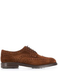 Brown leather Marron lace-up shoes from BERWICK SHOES featuring a round toe, brogue detailing, a lace-up front fastening and a rubber sole. Weekender, Berwick Shoes, Lace Up Shoes, Dress Shoes, Brogues, Cole Haan, Brown Leather, Oxford Shoes, Women Wear