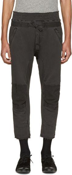 HAIDER ACKERMANN Grey Distressed Biker Lounge Pants. #haiderackermann #cloth #pants