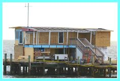 Rebuilding the Rod and Reel Pier after the fire 9/30/2013