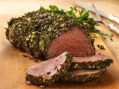 beef tenderloin with herb dijon crust Beef Tenderloin Recipes, Beef Tenderloin Roast, Roast Beef Recipes, Beef Meals, Rib Roast, Pork Loin, Filet Mignon Roast, Crust Recipe, Tasty Dishes