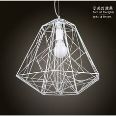 $150.50 / piece Fixture Width: 45 cm (18 inch) Fixture Length : 45 cm (18 inch) Fixture Height:50 cm (20 inch) Chain/Cord Length : 50 cm (20 inch) Color : white Materials:iron