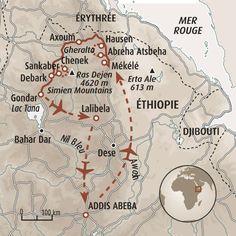 Circuit carte Ethiopie : Randonnée des églises du Tigré aux abysses du Simien