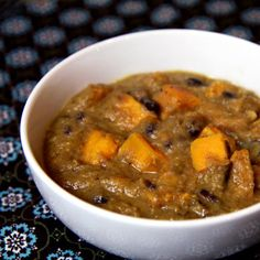 Winter Warm-Up: Black and White Bean Soup With Sweet Potatoes