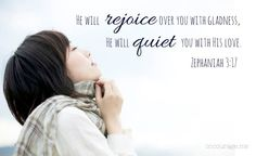 He rejoices over us...