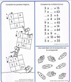 Cuaderno tablas de multiplicar (30) School Frame, Multiplication And Division, Math Games, Worksheets, Homeschool, Homework, Album, Education, Learning