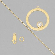 This flirty birthstone necklace kit with lovely white topaz is perfect as a gift for a april born friend.