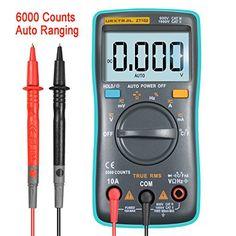 URXTRAL 6000 Compteurs Multimètre numérique Automatique Ranging TRMS Multi Tester avec rétro-éclairage Mesure Température AC / DC / OHM /…