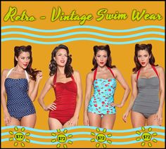 Retro Swim wear.  #swimwear #vintage #estherwilliams