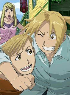 Edward, Alphonse e Winry