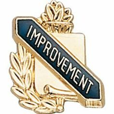 Lapel Pins (10-Pack): Scholastic Award Pin - Improvement by CM. $24.50. Ships in 1-2 business days from New York. Approximately 3/8 inch x 1/2 inch, clutch pin back.