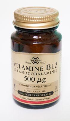 Solgar mini-gélules de 500 mcg de B12 cyanocobalamine : 4/semaine = 2000 mcg/semaine Vitamine B12, La Constipation, Desserts, Mini, Food, Red Blood Cells, Nervous System, Vitamins, Kitchens