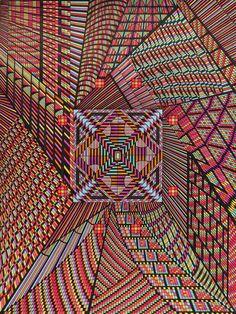 Reculsive visionary Eugene Andolsek's kaleidoscopic mandalas, in Raw Vision 69. http://rawvision.com/articles/eugene-andolseks-kaleidoscopic-mandalas