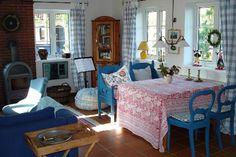 Uriges Wohnzimmer im Ferienhaus