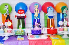 I love this movie! Celebrate Joy and all the other emotions with these Fun Inside Out Party Ideas | Frosted Events    #InsideOutEmotions #ad @walmart  ad