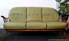 Only Fab Vintage Discount Furniture, Ercol Sofa, Sofa Outlet, Cheap Couch, Seat Available, Retro Sofa, Beautiful Sofas, Three Seater Sofa