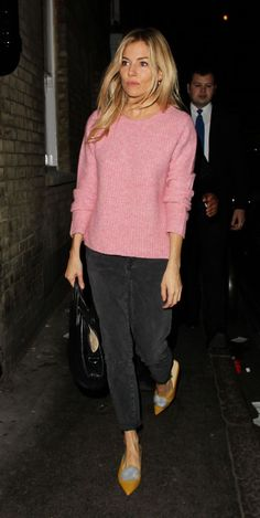 Sienna Miller - Leaving the Apollo Theatre in London.