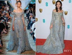 Michelle Yeoh In Elie Saab Haute Couture – 2019 BAFTAs blue gold dress Michelle Yeoh, Celebrity Red Carpet, Celebrity Style, Blue And Gold Dress, Blue Gold, Gold Gown, Elie Saab Spring, Red Carpet Fashion, Asian Fashion