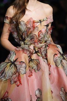 Long dress with butterflies.