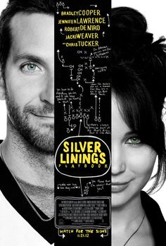 Silver Linings Playbook -- A 2012 Best Picture nominee starring Bradley Cooper and Oscar-winner Jennifer Lawrence. An unexpected bond forms between a formerly institutionalized man and a woman with her own issues. Not as unexpected as indicated but great performances all around elevates the cliched storyline.