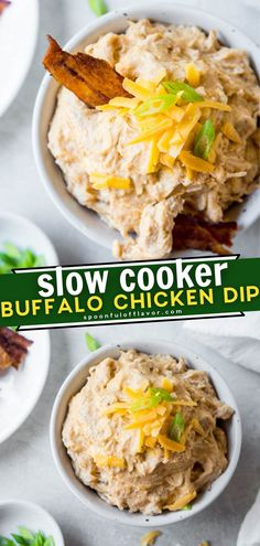 This recipe is the simplest to make when you're in a pinch for a party! Slow Cooker Buffalo Chicken Dip is super easy to prepare with what you usually have in your pantry or fridge. Its signature flavor and cream cheese texture make this appetizer a crowd favorite! Slow Cooker Recipes, Crockpot Recipes, Easy Recipes, Easy Meals, Yummy Appetizers, Appetizer Recipes, Pinterest Recipes, Buffalo Chicken, Cooking Tips