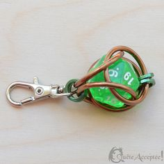 Dungeons & Dragons keychain for geeks caged dice LARP Dungeons And Dragons Dice, Geek Crafts, Diy Keychain, D 20, Bff Gifts, Chain Mail, Decoration, Jewelry Crafts, Decir No