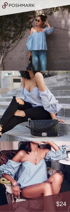 Off the Shoulder Loose Blouse Off the Shoulder Loose Blouse. Size Small Bust up to 31'' Sleeves 16 ½'' and length 14 ½'' Tops Blouses