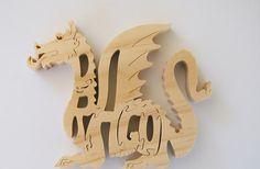 Dragon Wood Puzzle Cut On Scroll Saw Woodworking by DukesScrollSaw