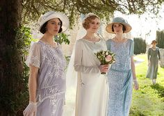 Lady Edith's wedding. I think she looks so pretty! Love her dress! Very simple and elegant.