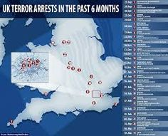 #politics Image result for UK isis cell map pictures