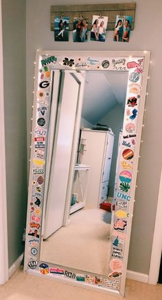 stickers on a mirror!