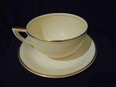4 x Wedgwood & co 1930 s Art Deco  Hermes  design Large mugs/Cups& Saucers 8pcs