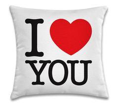 I Love You (capa para almofada 40cm x 40cm) R$39,00 Frete único pra todo Brasil. Pedidos: contato.moofa@gmail.com