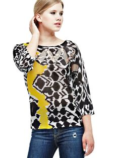 EUR99.90$  Buy now - http://vixfd.justgood.pw/vig/item.php?t=zeophu9513 - ALL-OVER PRINT VISCOSE SWEATER