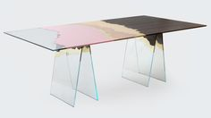 Milan designer Alberto Biagetti has created a furniture collection inspired by his home city that incorporates materials salvaged from its aristocratic palazzos. The Bonjour Milàn collection developed by Biagetti's studio, Atelier Biagetti, comprises a cabinet, a lamp, a large table and groups of side tables made from materials including discarded tiles.